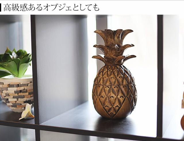 パイナップルの木製インテリア