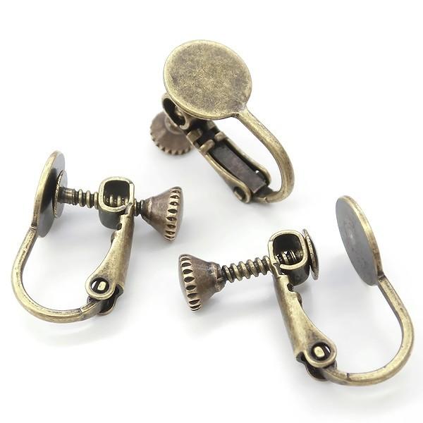 皿付きネジバネ式イヤリング金具