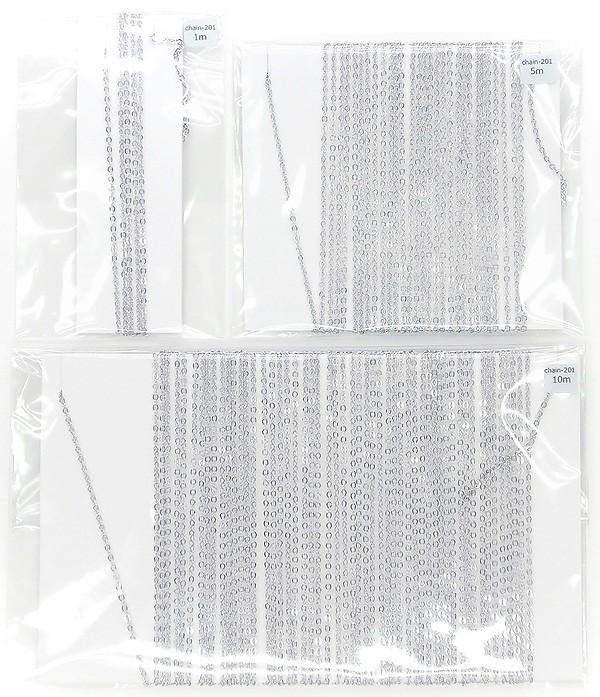 華奢でキレイなデザインチェーン★ハンドメイド用★チェーンのみ★カット済★定番:平あずきチェーン