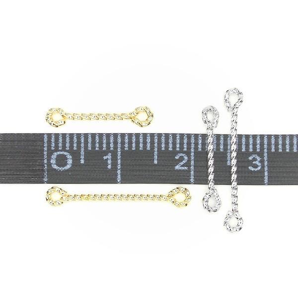 ★twist connector 15mm★K16GP&本ロジウム★ツイストコネクター