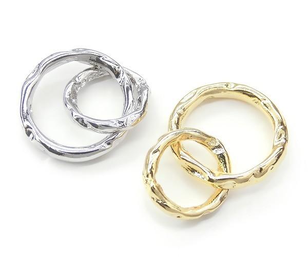 Ring Parts ダブルデザインリング★K16GPと本ロジウムカラー