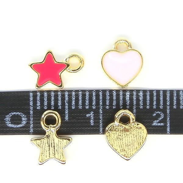 """ハート&スターのカラーチャーム♪77""""petit heart & star"""""""