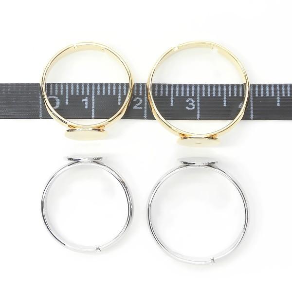 デコ土台♪指輪★8mm皿付きリング