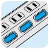 節電に役立つ個別スイッチ付