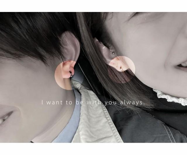 ペアピアス close to me 女性用片耳 男性用片耳 SP13-001BK_SP13-001PG