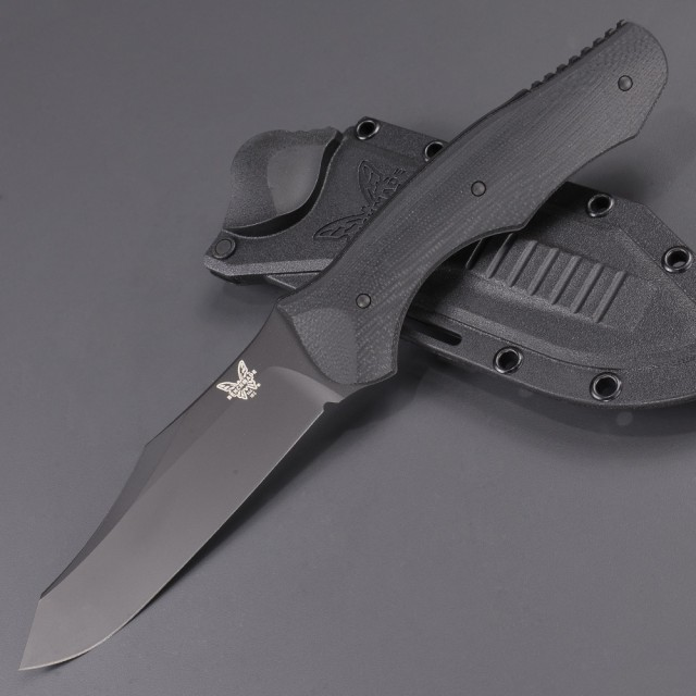 BENCHMADEアウトドアナイフ183BKフィクスドコンテゴ直刃ブラック