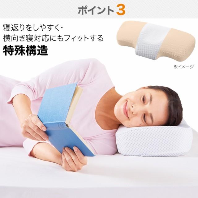 寝返りをしやすく・横向き寝対応にもフィットする特殊構造